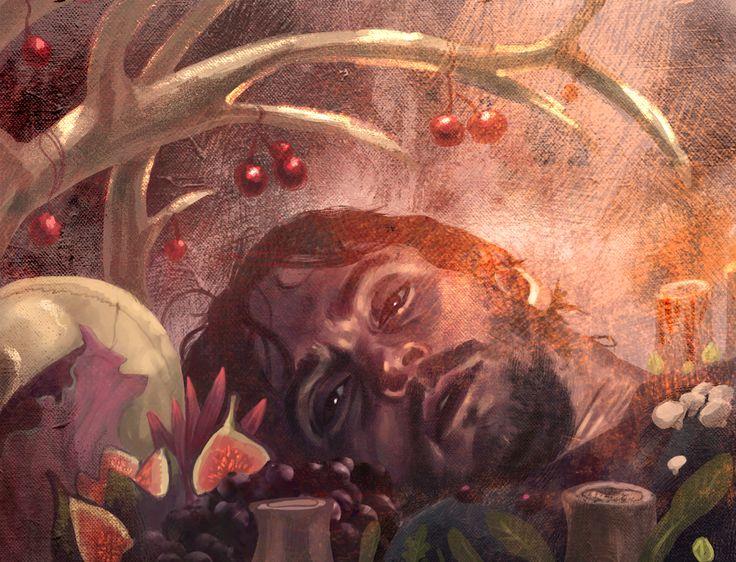 """How did I get here?"" by amidarosa.deviantart.com on @deviantART - Amazing Hannibal fan art"