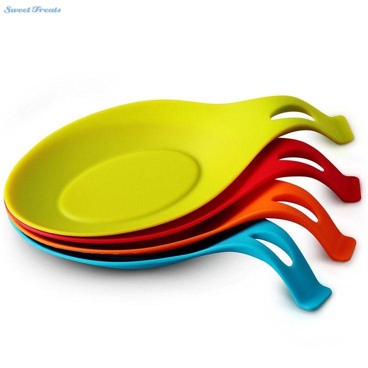 Sweettreats shaped spoon rest kitchen utensils storage sealing heat-resistant exhaust cooking tools