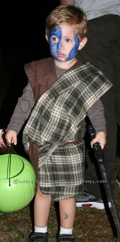 Cheap and Easy Braveheart Toddler Halloween Costume… Coolest Halloween Costume Contest