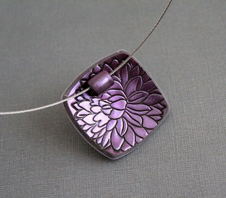 Pendant Choker Necklace Polymer clay | by earthexpressions