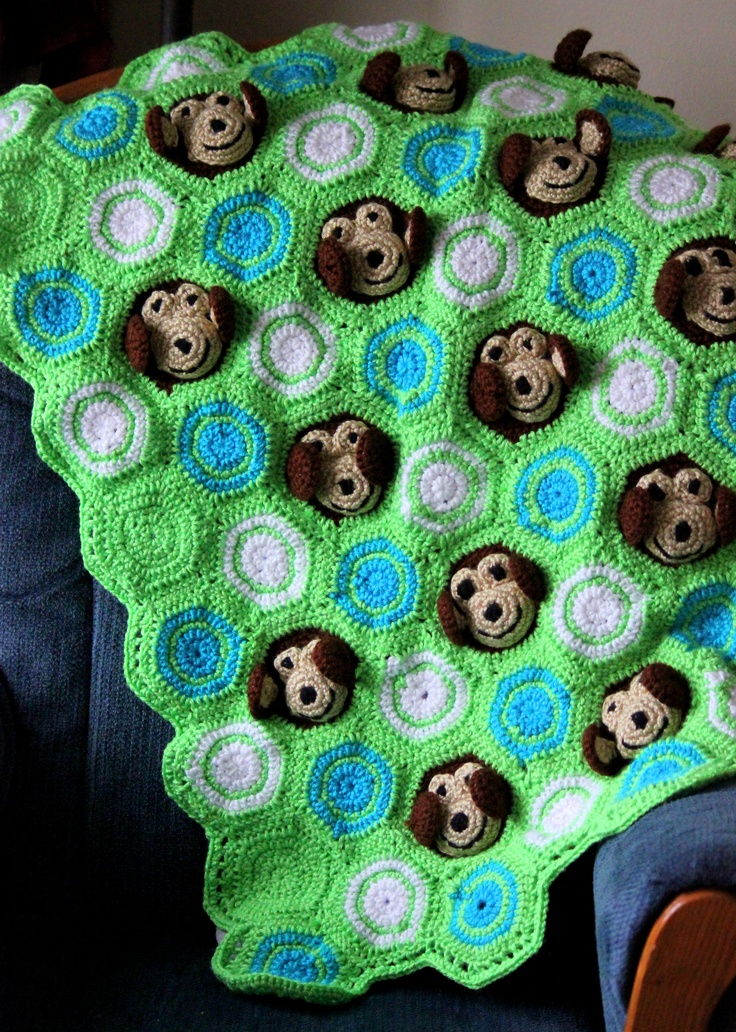 Free Monkey Crochet Baby Blanket Pattern : 1000+ images about Baby blankets on Pinterest Crochet ...