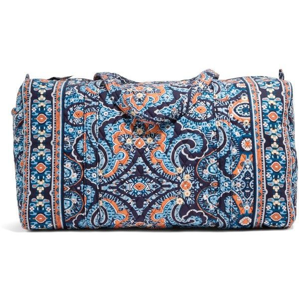Vera Bradley Large Duffel Travel Bag in Marrakesh (£40) ❤ liked on Polyvore featuring bags, luggage, bridal party gifts, gifts and marrakesh