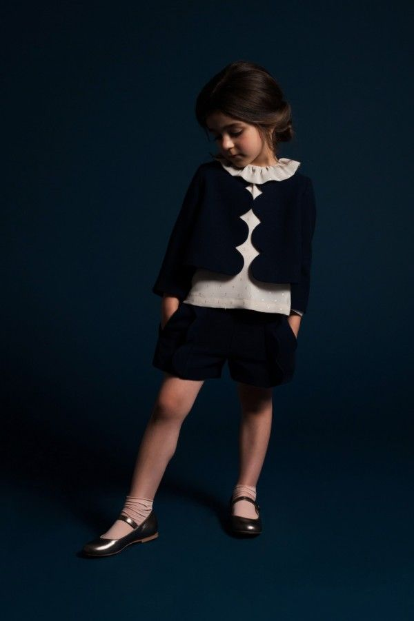 Scallop edge jacket and shorts from Hucklebones young girls fashion for autumn 2014