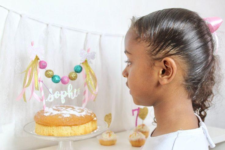 Image of Personalised glitter felt ball cake topper