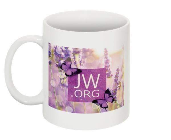 New Purple Butterfly JW.org Coffee Mug Tea Cup Ministry Jehovah's Witnesses Gift
