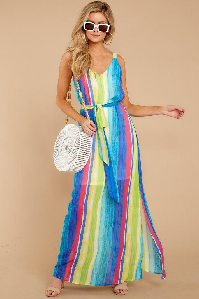 Lovely Blue Palm Print Maxi Dress Breezy Tropical Maxi Dress 36 Red Dress Striped Maxi Dresses Tropical Maxi Dress Spring Maxi Dress
