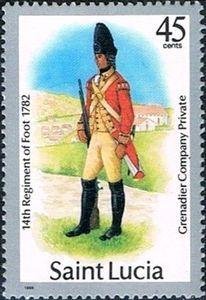 Grenadier Company Private 14th Foot Reg, 1782