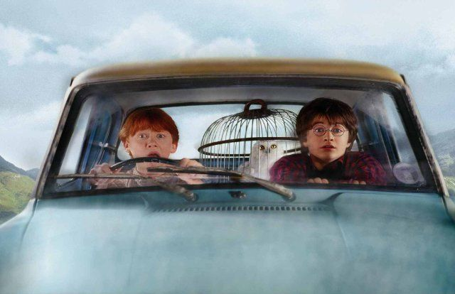 Still of Rupert Grint and Daniel Radcliffe in Harry Potter and the Chamber of Secrets  ....haha