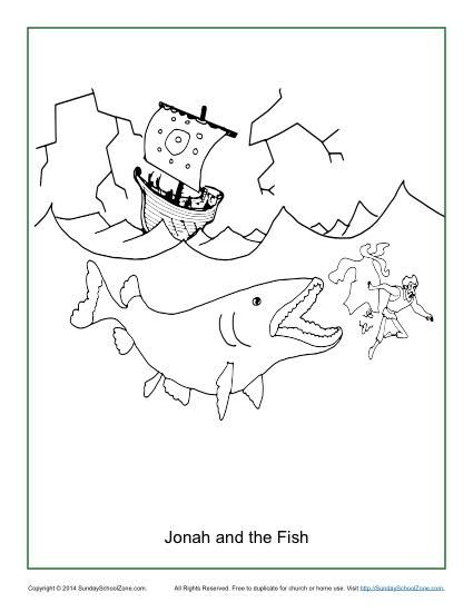 jonah and the fish coloring page childrens bible activities
