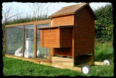 Poulailler mobile la maison des poules jardin pinterest poulailler mob - La maison de la poule ...