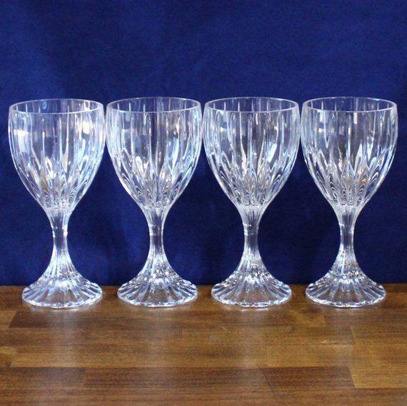 "Mikasa Park Lane Crystal 6 3//4/"" Water Goblets set of 4"