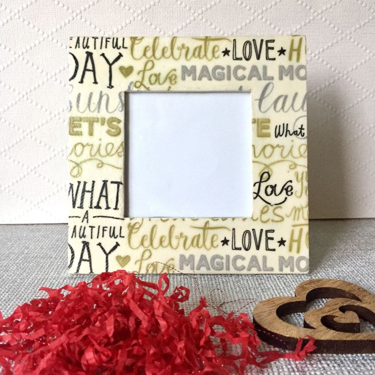 Excited to share the latest addition to my #etsy shop: for Wooden photo frame - #decoupage #photo #frame -black silver & gold picture frame - square photo frame - mother's gift -unique gift #gold #white #housewarming #mothersday #wood #uniquegift #uniqueframe #decoupagegift