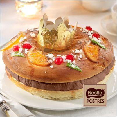 Roscón de Reyes con chocolate negro