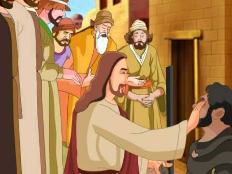 """As Jesus walked along, he saw a man who was blind from birth.  Jesus' disciples asked, """"Rabbi, who sinned so that he was born blind, this man or his parents?""""    Jesus answered, """"Neither he nor his parents. This happened so that God's mighty works might be displayed in him. While it's daytime, we must do the works of him who sent me. Night is comi..."""