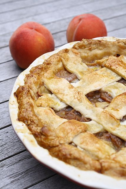 Peach and Ginger Pie by Delishhh, http://delishhh.com