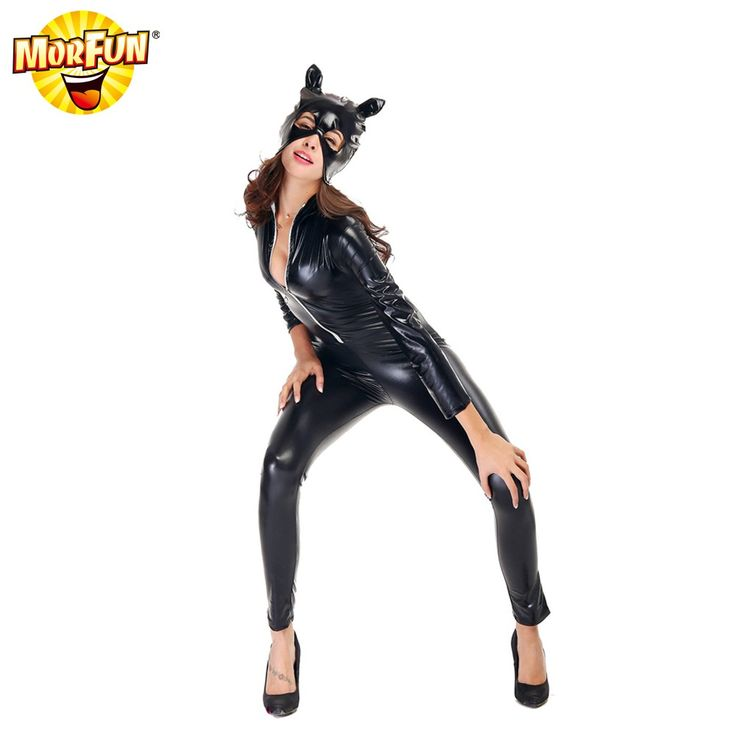 MorFunParty catwoman mask costume adult cat woman costume catwoman fancy dress costumes