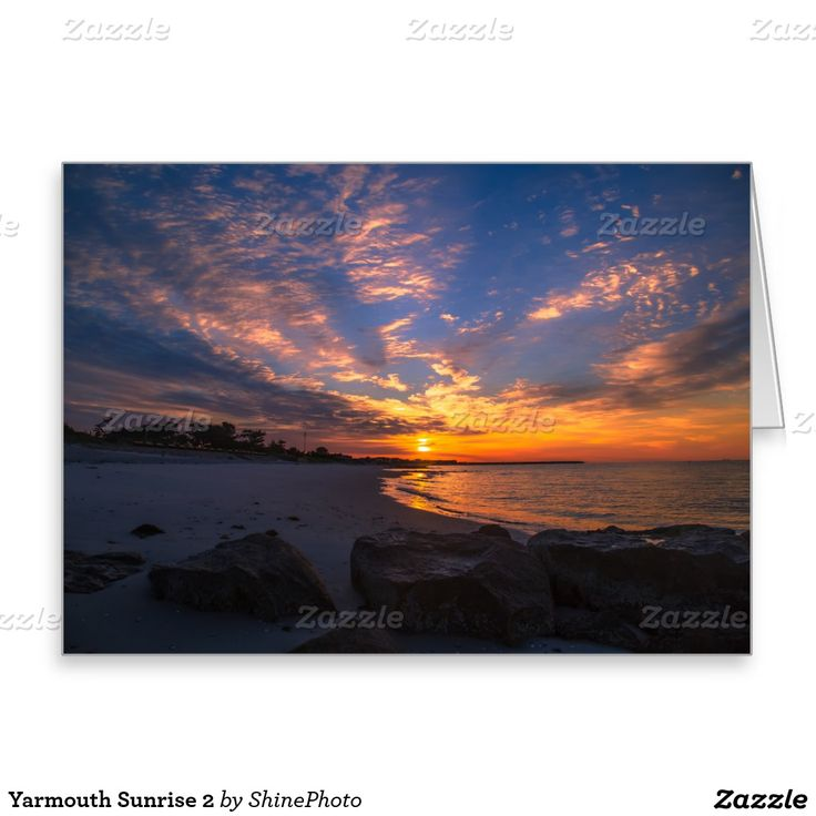 Yarmouth Sunrise 2 Greeting Card