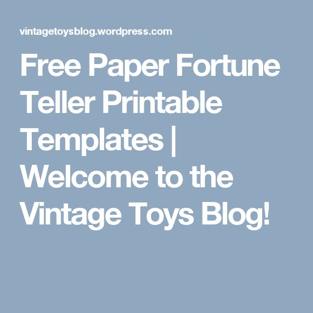 how to make a fortune teller for kids