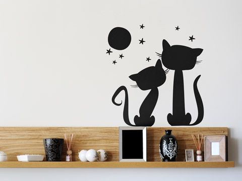 Vinil decorativo gatos