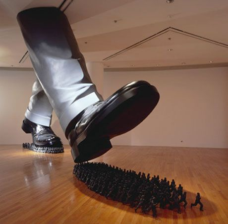 'karma', 2003  installation at the artsonje center, seoul