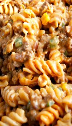 (15 Minute) Beefy Buffalo Mac and Cheese with Creamed Corn and Poblano Peppers