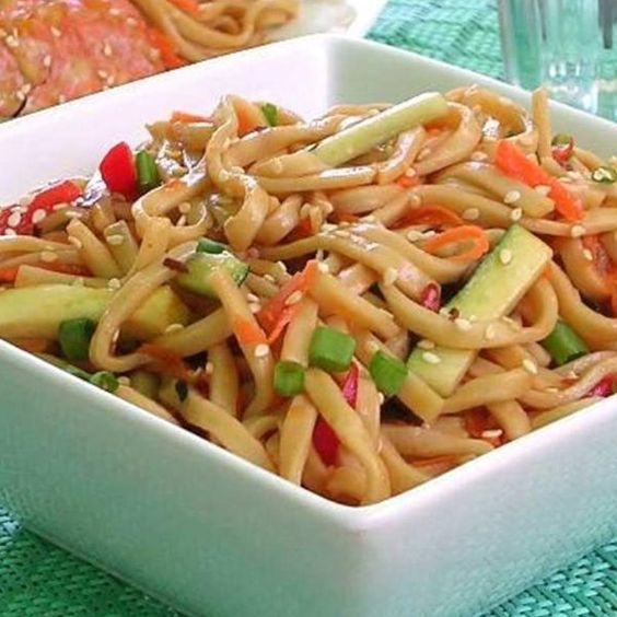 "Shanghai Noodle Salad | ""Tangy, addictive, Asian pasta salad. Great for lunch boxes!"""