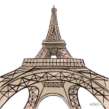 How to draw an Eiffel tower