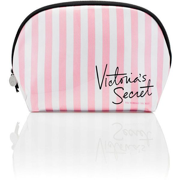 Victoria's Secret Wedge Cosmetic Bag (70 ILS) ❤ liked on Polyvore featuring bags, handbags, beauty, makeup, makeup bags, print purse, victoria secret handbags, pattern bag, pattern purse and victoria's secret