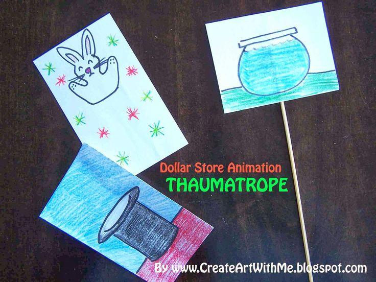 Create Art With Me!: Dollar Store Animation Class: Thaumatropes @mindyfay For CCFunSchool?