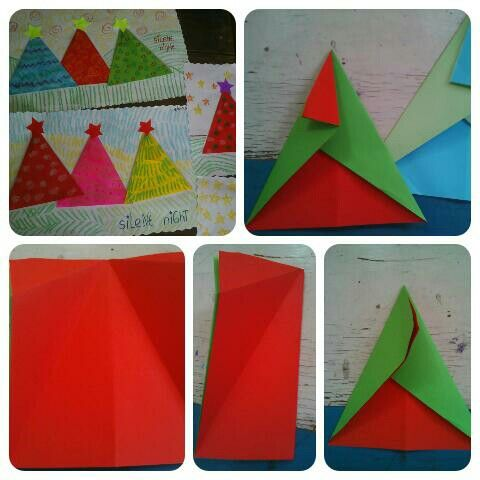 Christmas tree #paper #paperorigami #diy4kids