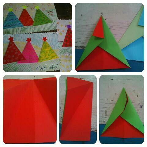 Christmas tree #paper #paperorigami #diy4kids