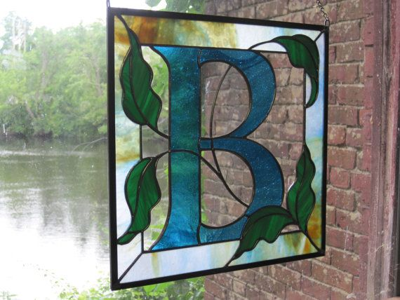 Custom Stained Glass Monogram by RenaissanceGlass on Etsy
