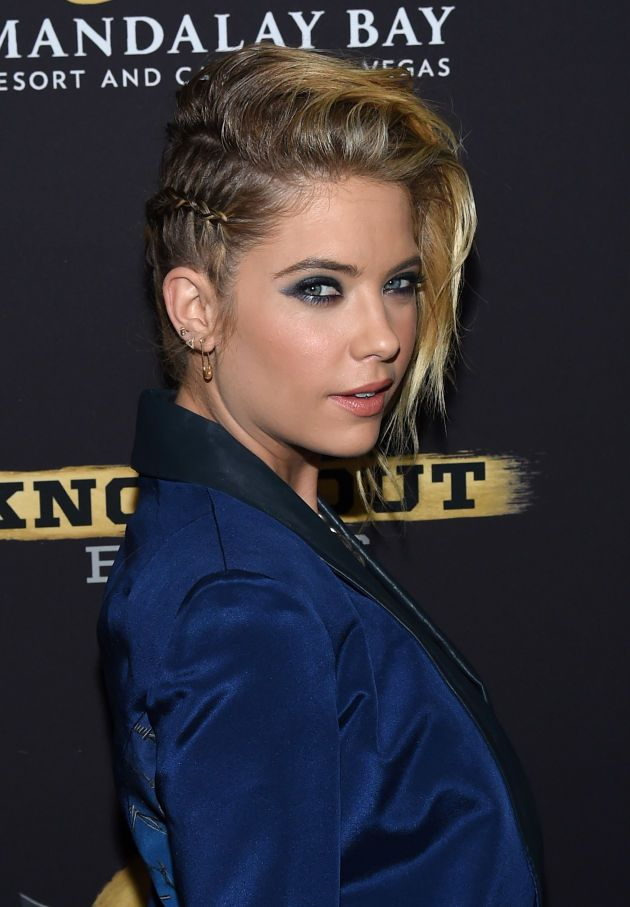 Ashley Benson works the faux side shave braid. Photo: Ethan Miller/Getty Images