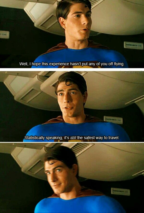 Brandon Routh in Superman Returns. Christopher Reeve says that to his Lois in the original Superman!