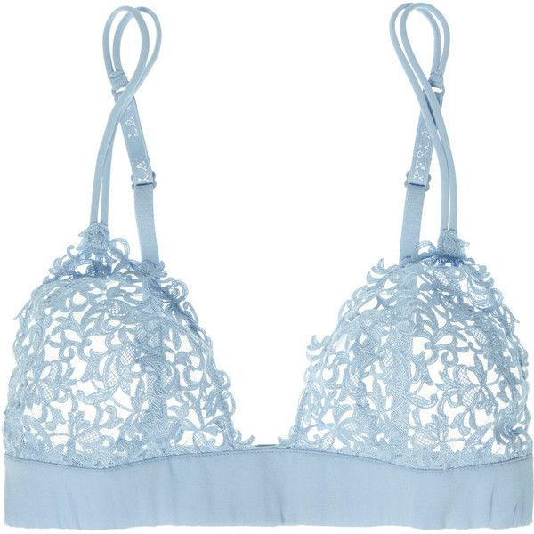 La Perla Petit Macrame lace soft-cup bra, Size: 3 (1.325 VEF) ❤ liked on Polyvore featuring intimates, bras, lingerie, underwear, la perla, la perla lingerie, soft cup bra, lace bra and petite lingerie