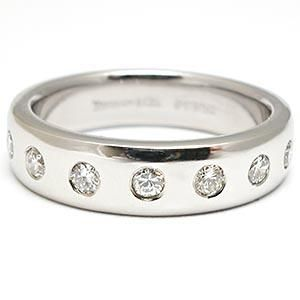 Estate Tiffany & Co. Mens Diamond Wedding Band Ring Solid Platinum