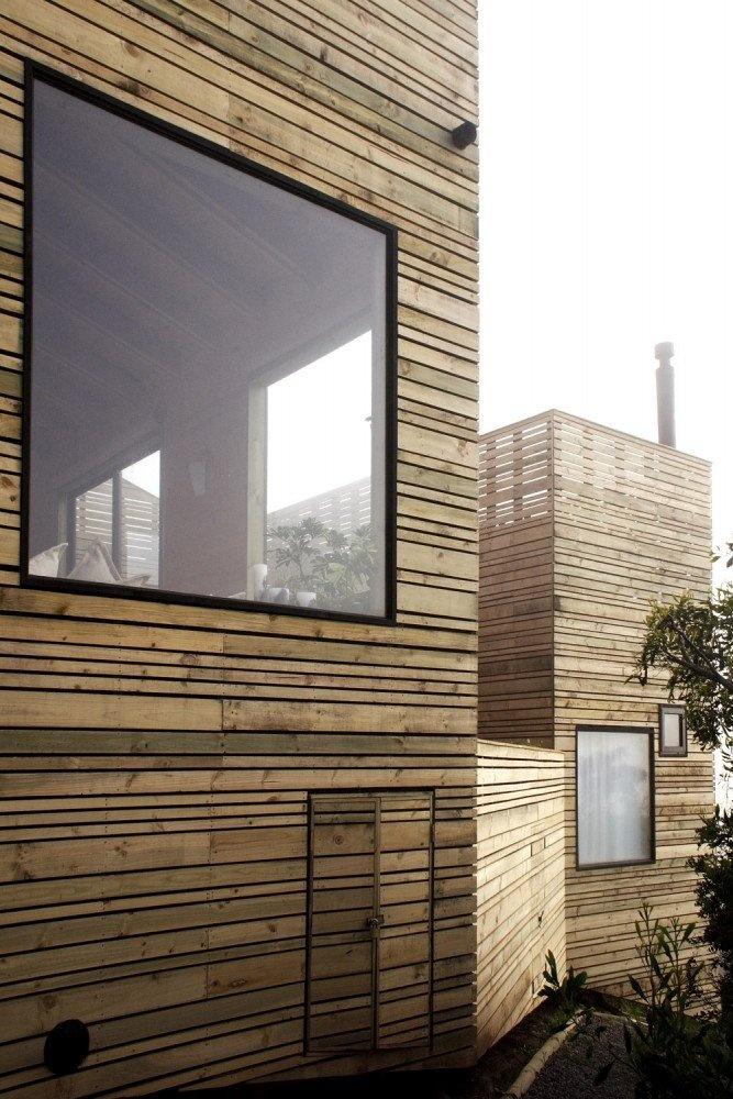 timber slats + flush window