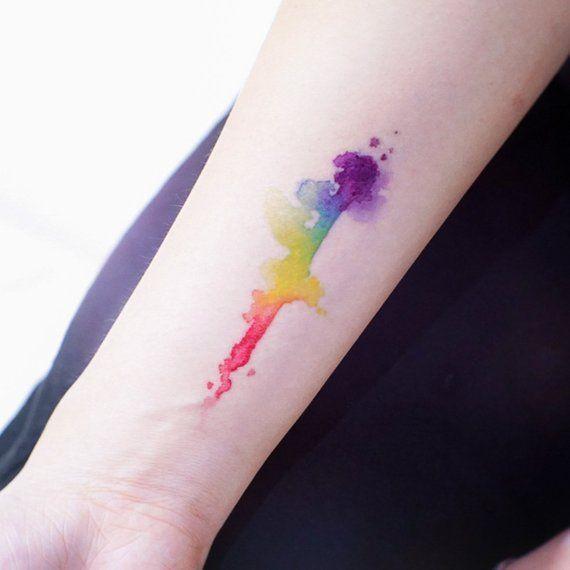 LGBTQ Temporary tattoos LGBT tattoo Gay Pride tattoo Love tattoo Equality tattoo Freedom Tattoo Watercolor Rainbow Tattoo Stickers Tatouage