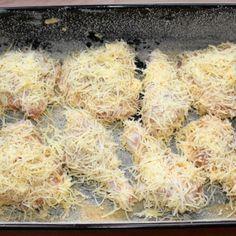 Sajtbundában sült csirkecomb recept