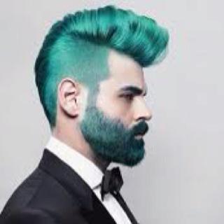 Green hair: Greenhair, Men Hair, Menhair, Haircolor, Teal Hair, Men Fashion, Hair Style, Green Hair, Hair Color