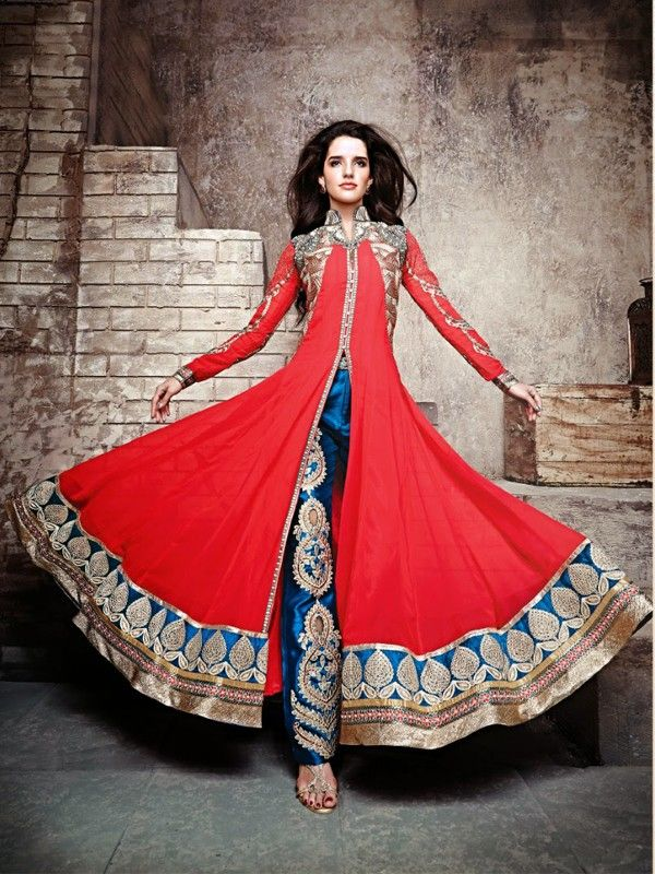 Royal Red Designer Salwar Suit - Wedding Collection - Salwar Suits