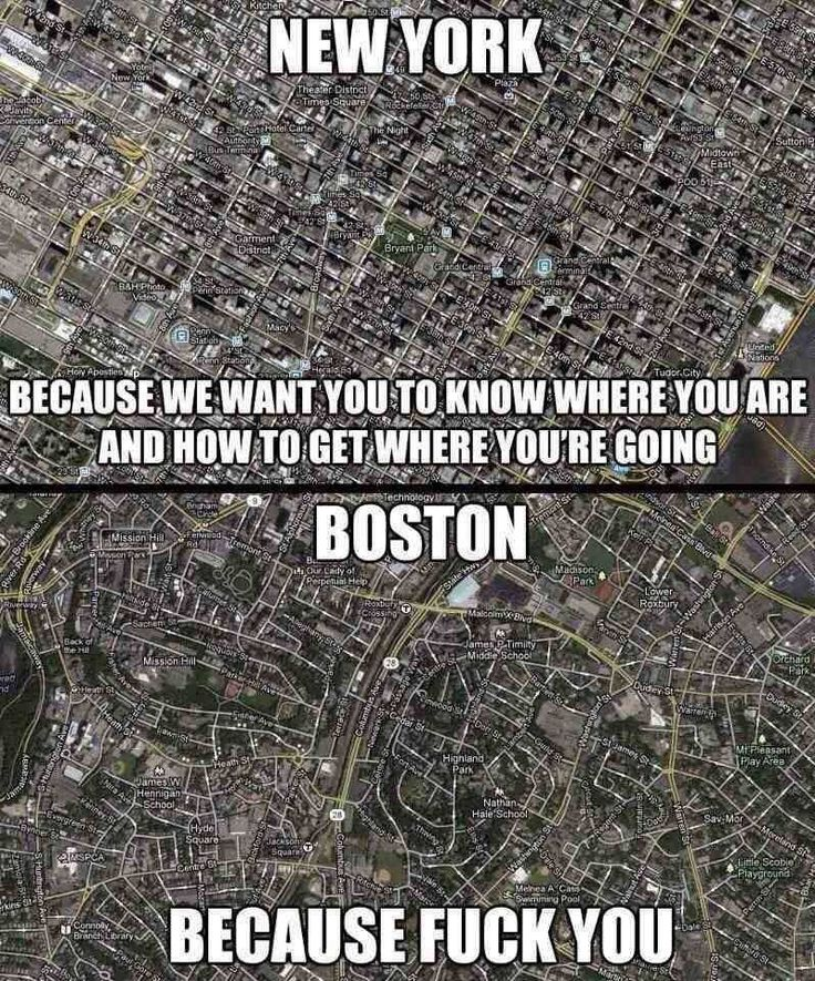 New York vs Boston Poor @Lauren Davison Bassie and Bostons non grid city plan