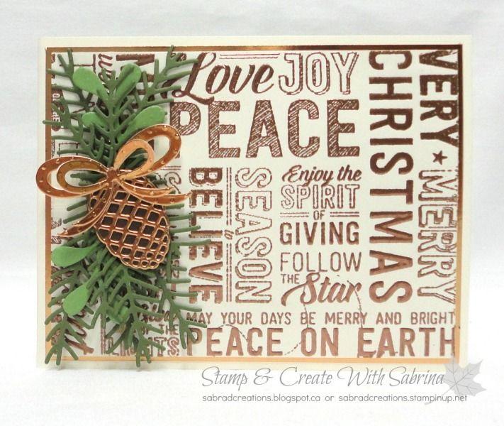 2016 Holiday Catalogue Sneak Peek - Merry Medley & Pretty Pines Thinlits - Very Vanilla