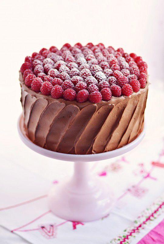 red velvet raspberry supreme cake