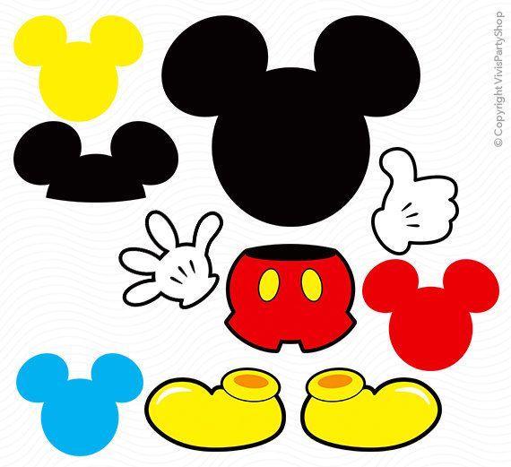 MICKEY Mouse imágenes prediseñadas para imprimir descarga