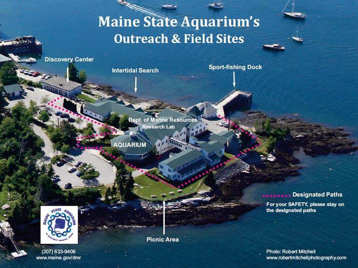 Aerial view of the Maine State Aquarium and DMR campus