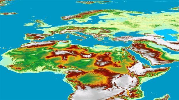 Crean el mapa 3D de la Tierra más preciso hasta ahora  El nuevo mapa 3D es capaz de marcar una diferencia de 5 metros de altura en el terreno.