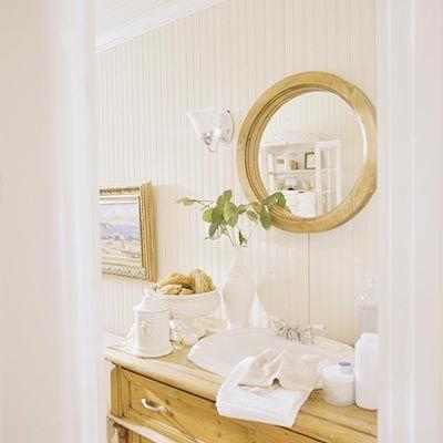 Painted pine bathroom