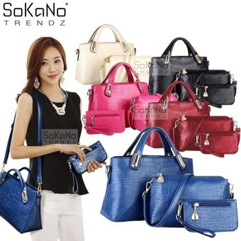 Buy SoKaNo Trendz Elegant Faux Crocodile Leather Bags (Set of 3)- Blue online at Lazada. Discount prices and promotional sale on all. Free Shipping.