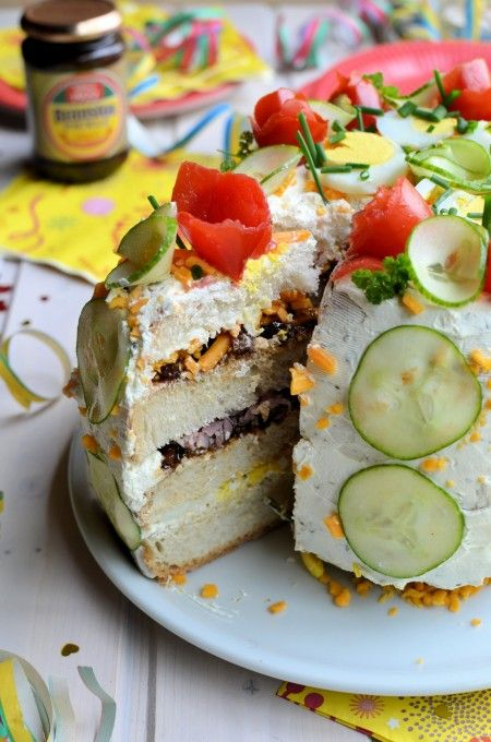Lavender and Lovage | �Smorgastarta� (Swedish Savoury Sandwich Gateau) for National Sandwich Day | http://www.lavenderandlovage.com